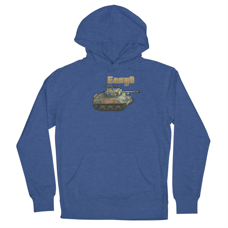 Easy 8 (M4A3E8) Sherman Men's French Terry Pullover Hoody by Pixel Panzers's Merchandise