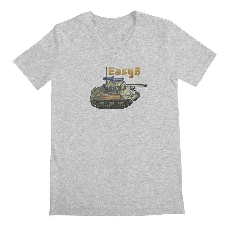 Easy 8 (M4A3E8) Sherman Men's Regular V-Neck by Pixel Panzers's Merchandise