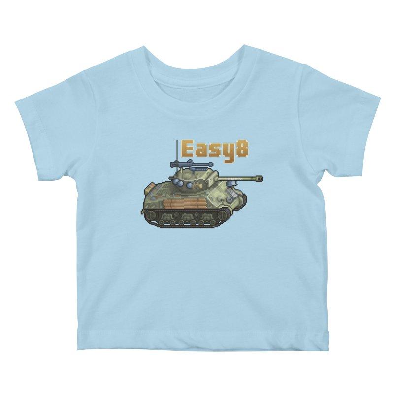 Easy 8 (M4A3E8) Sherman Kids Baby T-Shirt by Pixel Panzers's Merchandise