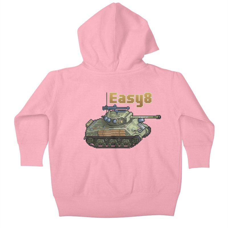 Easy 8 (M4A3E8) Sherman Kids Baby Zip-Up Hoody by Pixel Panzers's Merchandise