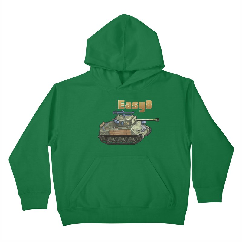 Easy 8 (M4A3E8) Sherman Kids Pullover Hoody by Pixel Panzers's Merchandise