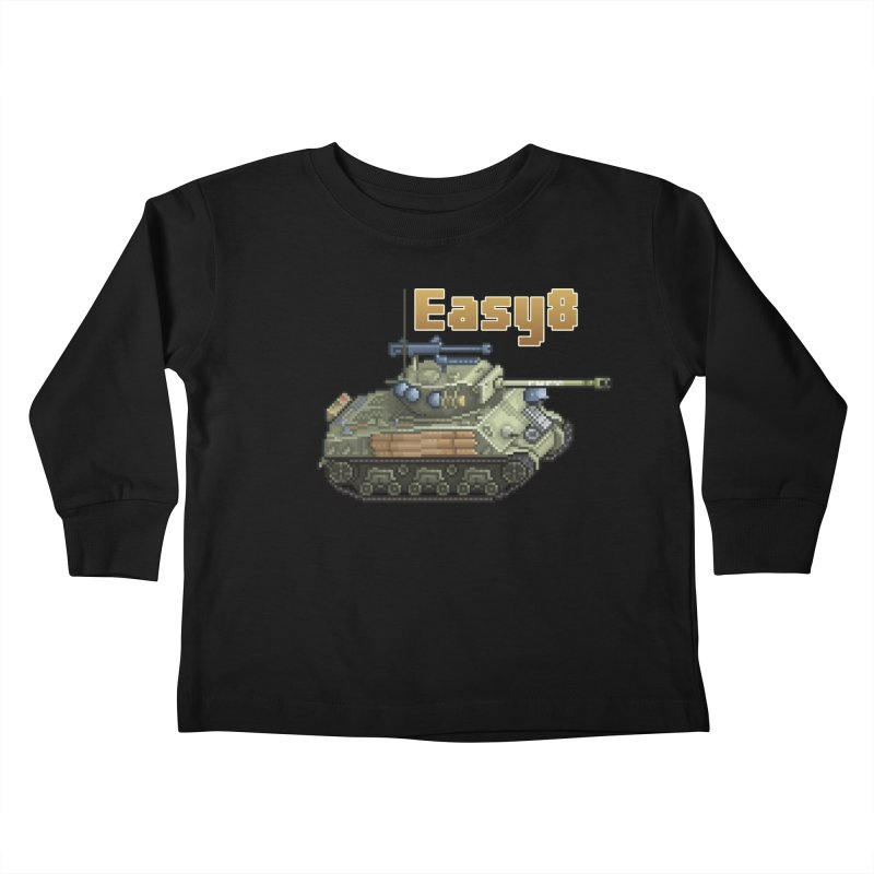 Easy 8 (M4A3E8) Sherman Kids Toddler Longsleeve T-Shirt by Pixel Panzers's Merchandise