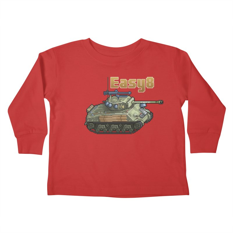 Easy 8 (M4A3E8) Sherman Kids Toddler Longsleeve T-Shirt by Pixel Panzers's Merchandise