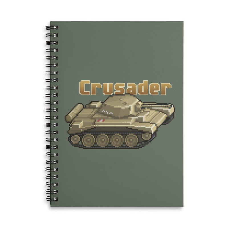 Crusader Accessories Lined Spiral Notebook by Pixel Panzers's Merchandise