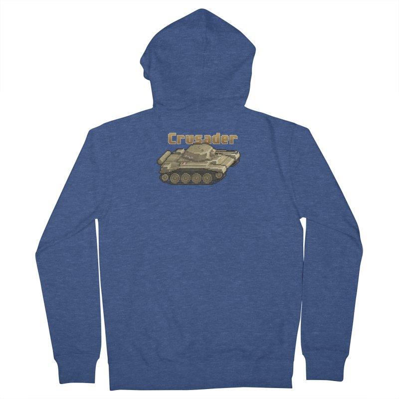 Crusader Men's French Terry Zip-Up Hoody by Pixel Panzers's Merchandise