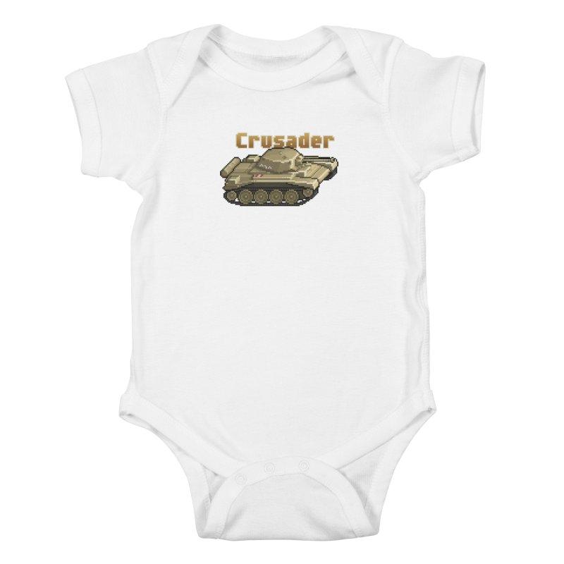 Crusader Kids Baby Bodysuit by Pixel Panzers's Merchandise