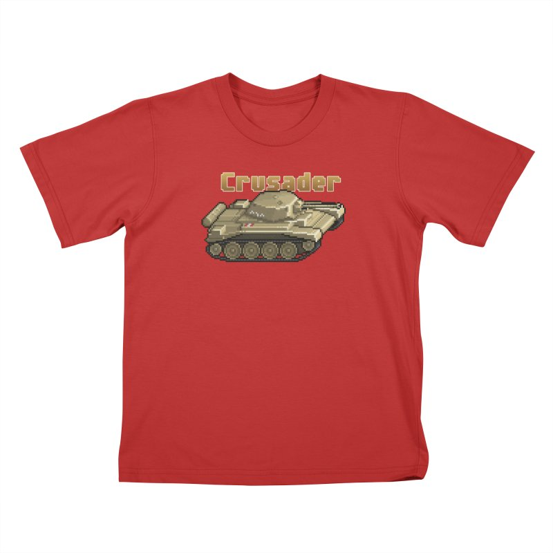 Crusader Kids T-Shirt by Pixel Panzers's Merchandise