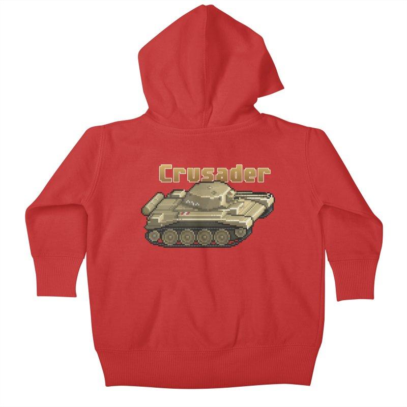 Crusader Kids Baby Zip-Up Hoody by Pixel Panzers's Merchandise
