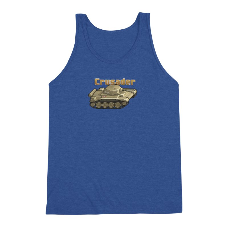 Crusader Men's Triblend Tank by Pixel Panzers's Merchandise