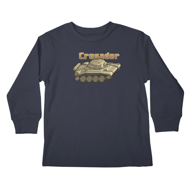 Crusader Kids Longsleeve T-Shirt by Pixel Panzers's Merchandise