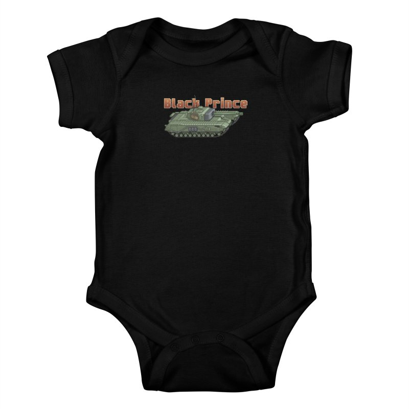 Churchill Black Prince (Prototype) Kids Baby Bodysuit by Pixel Panzers's Merchandise