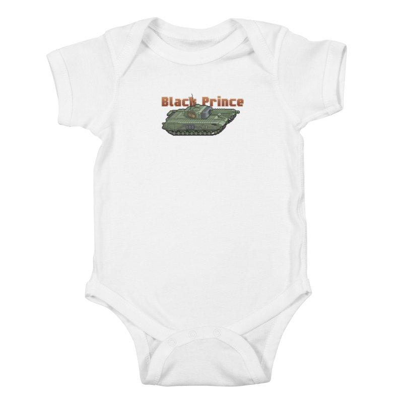 Churchill Black Prince (Prototype) Kids Baby Bodysuit by Pixel Panzers's Merchandise