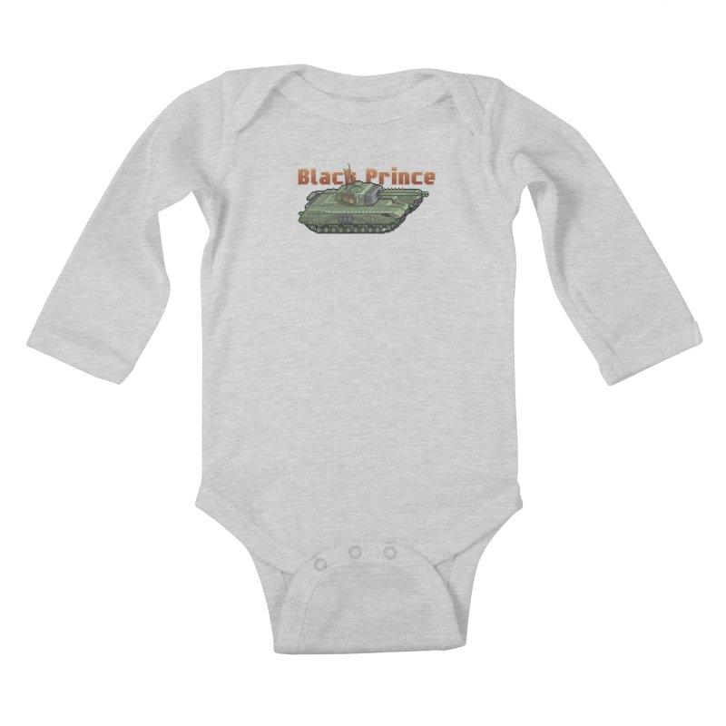 Churchill Black Prince (Prototype) Kids Baby Longsleeve Bodysuit by Pixel Panzers's Merchandise