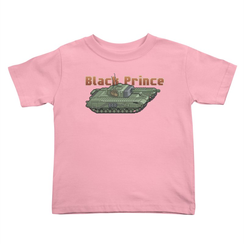 Churchill Black Prince (Prototype) Kids Toddler T-Shirt by Pixel Panzers's Merchandise