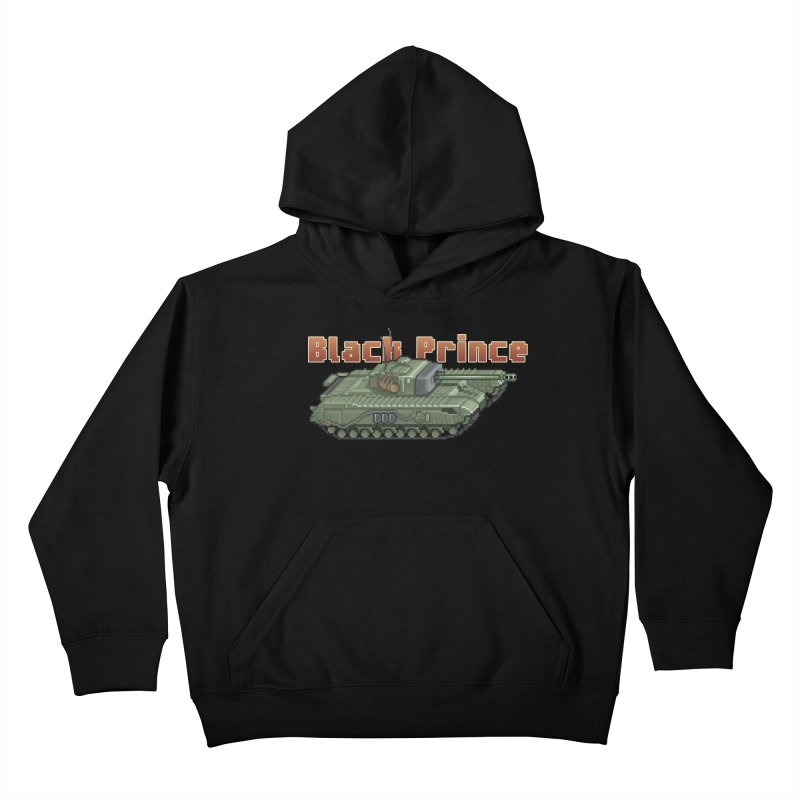 Churchill Black Prince (Prototype) Kids Pullover Hoody by Pixel Panzers's Merchandise