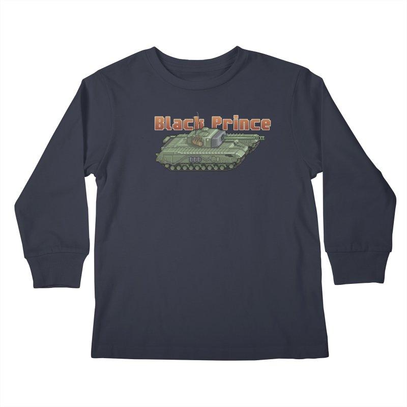 Churchill Black Prince (Prototype) Kids Longsleeve T-Shirt by Pixel Panzers's Merchandise