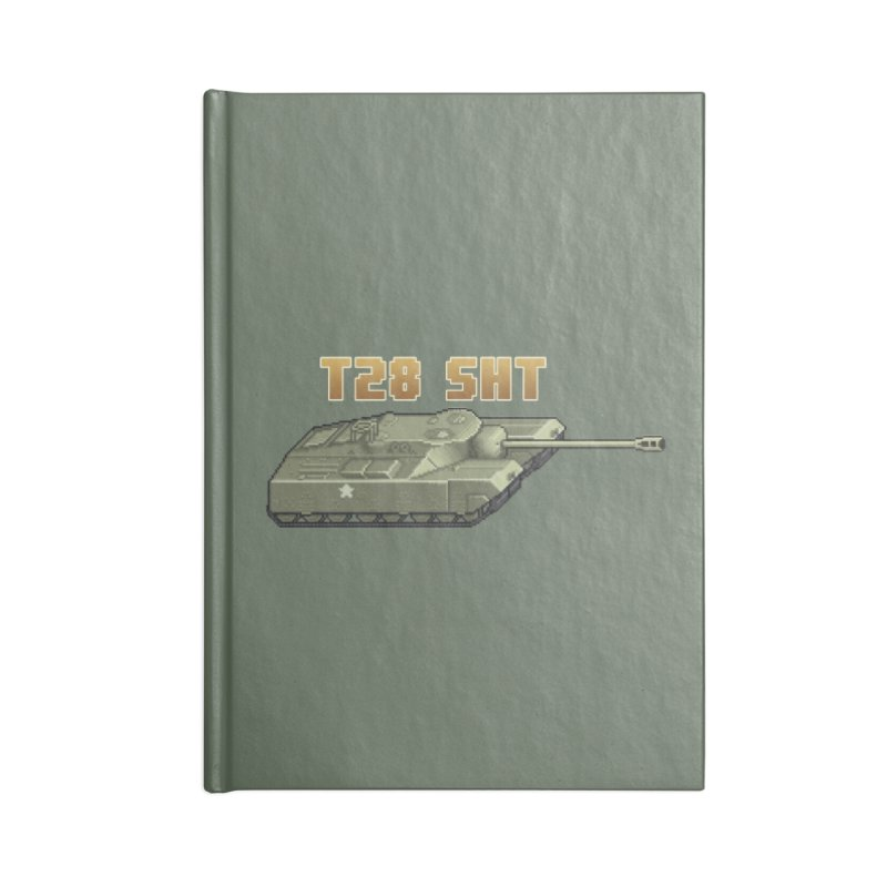 T28 SHT Accessories Blank Journal Notebook by Pixel Panzers's Merchandise
