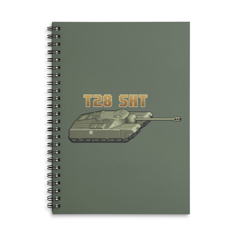 T28 SHT Accessories Lined Spiral Notebook by Pixel Panzers's Merchandise
