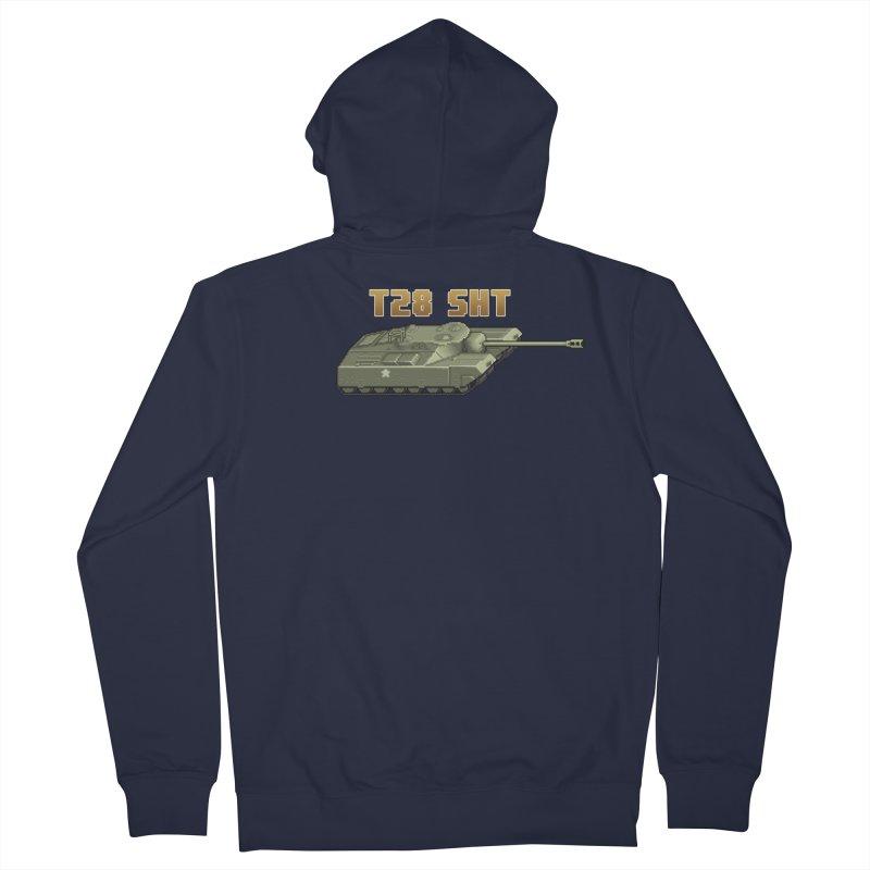 T28 SHT Men's French Terry Zip-Up Hoody by Pixel Panzers's Merchandise