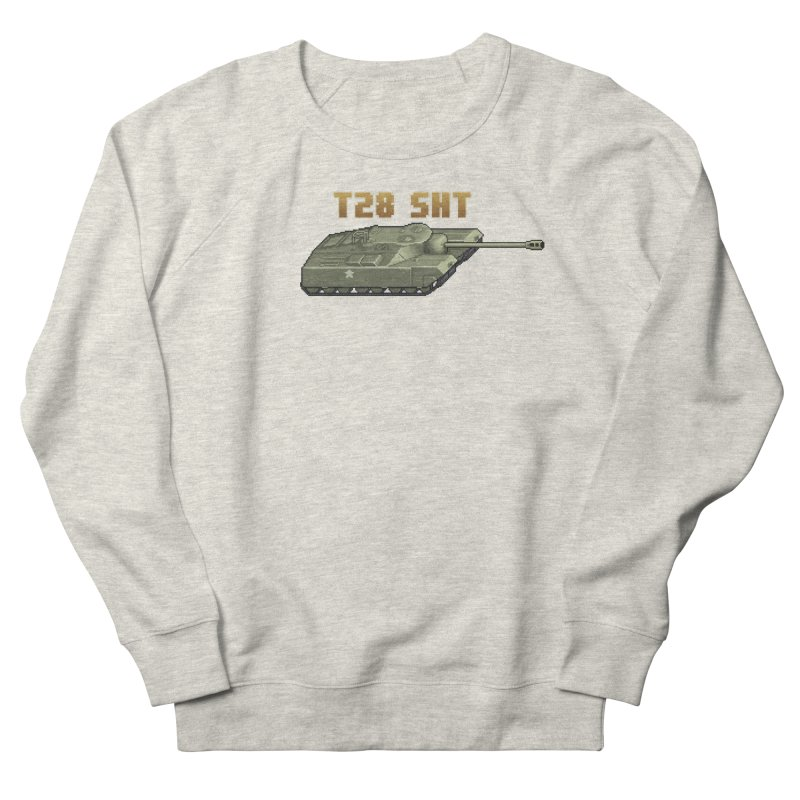 T28 SHT Men's French Terry Sweatshirt by Pixel Panzers's Merchandise