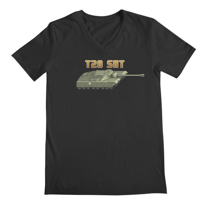 T28 SHT Men's Regular V-Neck by Pixel Panzers's Merchandise