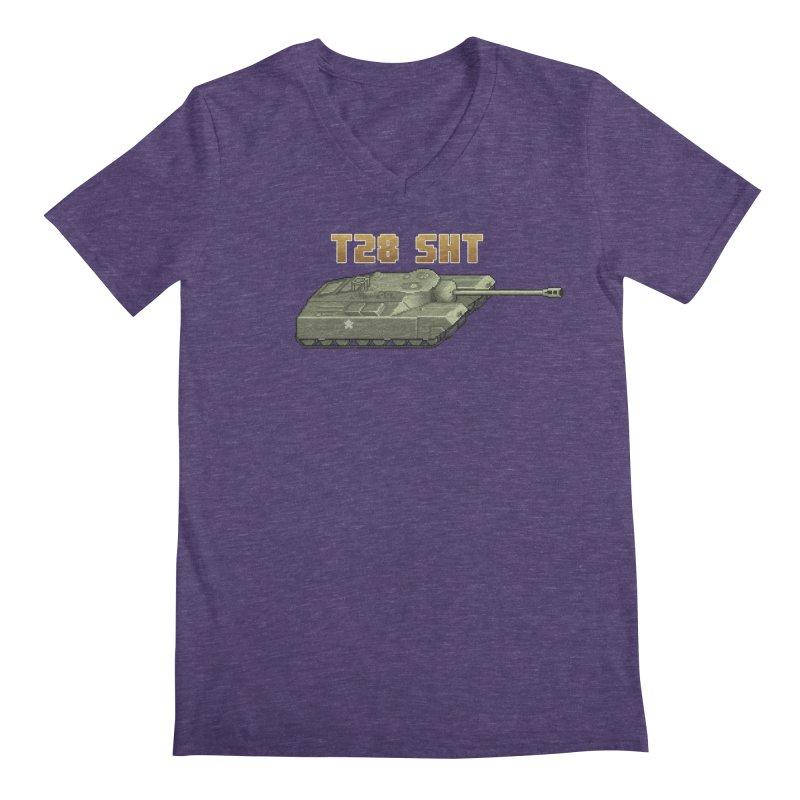 T28 SHT Men's V-Neck by Pixel Panzers's Merchandise