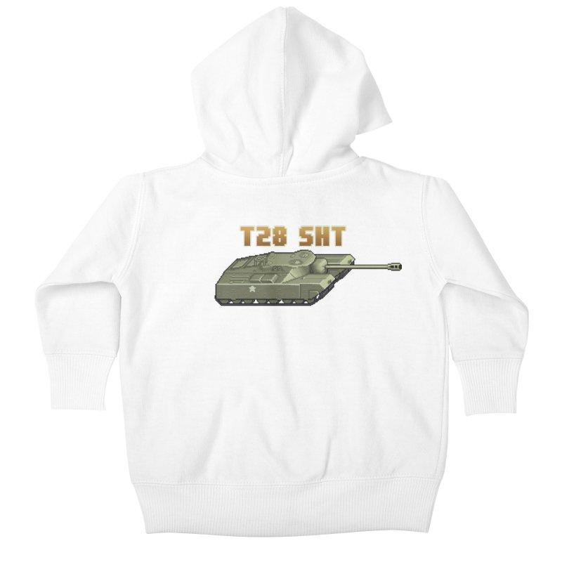 T28 SHT Kids Baby Zip-Up Hoody by Pixel Panzers's Merchandise
