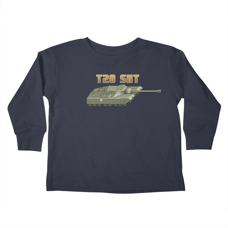 T28 SHT Kids Toddler Longsleeve T-Shirt by Pixel Panzers's Merchandise