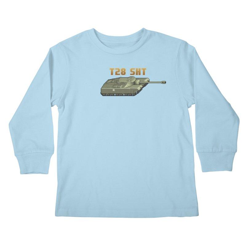 T28 SHT Kids Longsleeve T-Shirt by Pixel Panzers's Merchandise