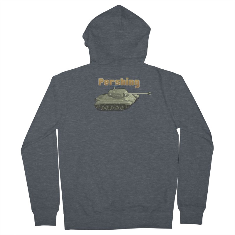 Pershing Men's French Terry Zip-Up Hoody by Pixel Panzers's Merchandise