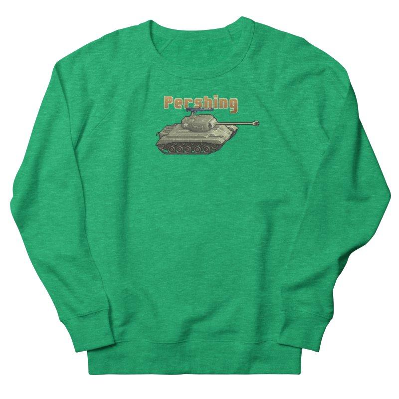 Pershing Men's French Terry Sweatshirt by Pixel Panzers's Merchandise
