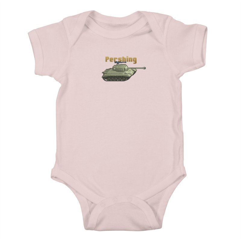 Pershing Kids Baby Bodysuit by Pixel Panzers's Merchandise