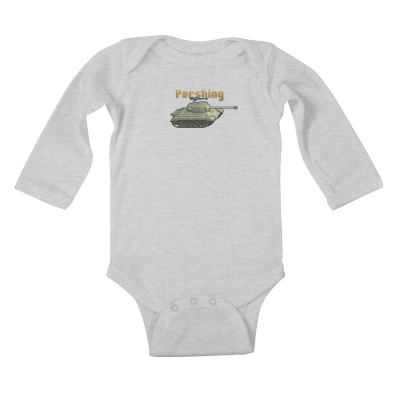 Pershing Kids Baby Longsleeve Bodysuit by Pixel Panzers's Merchandise