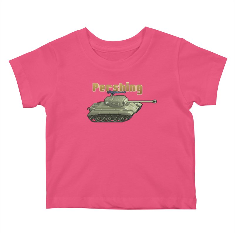 Pershing Kids Baby T-Shirt by Pixel Panzers's Merchandise