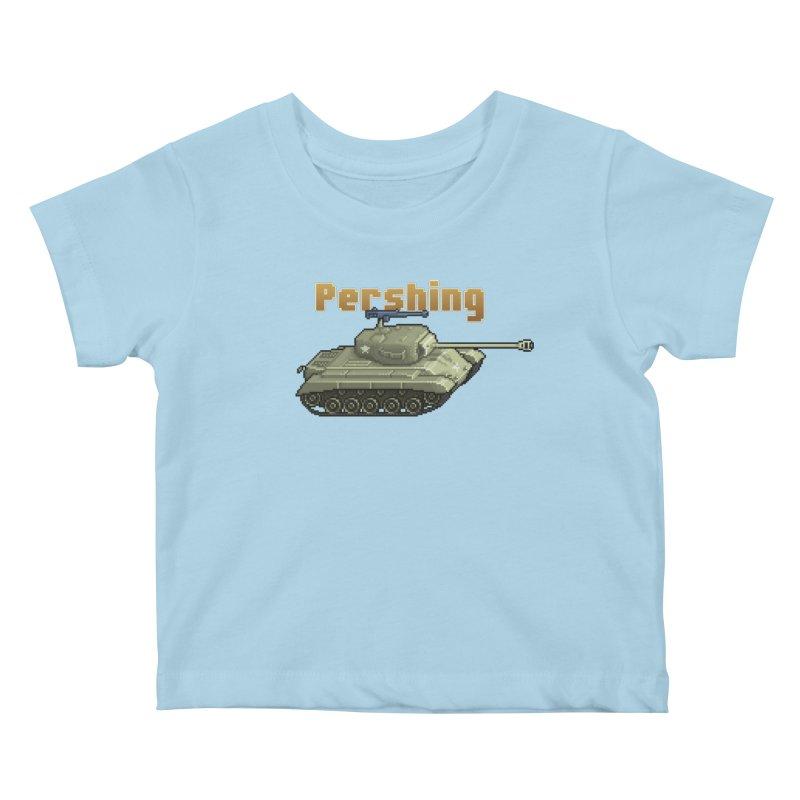 Pershing Kids Baby T-Shirt by Pixel Panzers's Merchandise