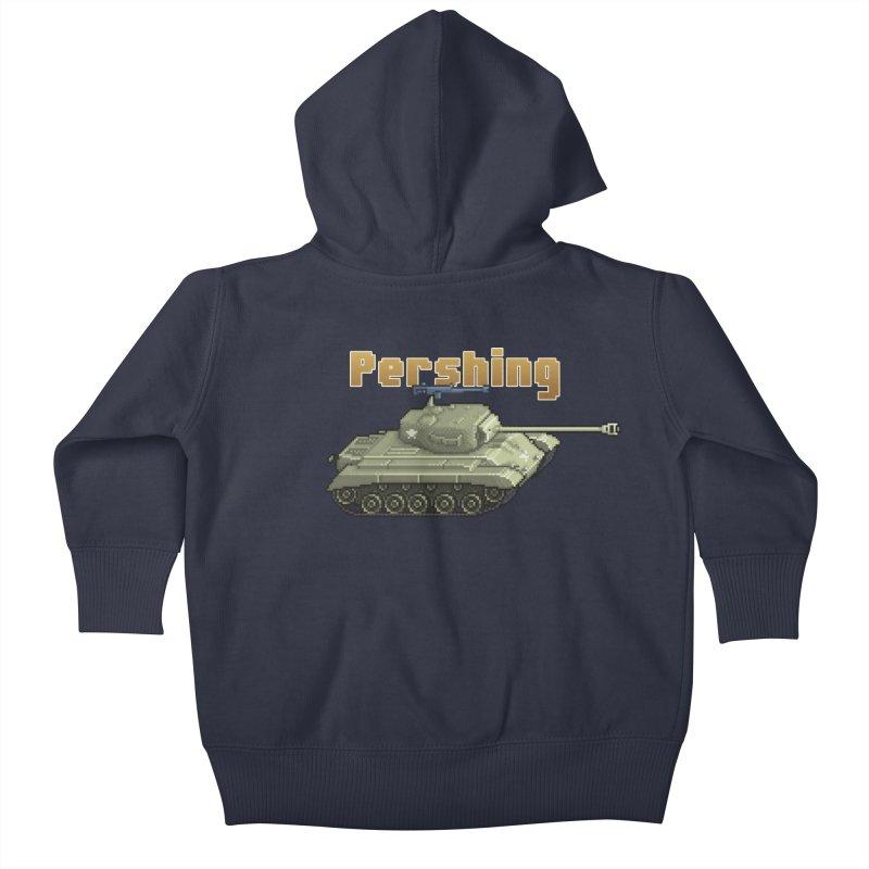 Pershing Kids Baby Zip-Up Hoody by Pixel Panzers's Merchandise