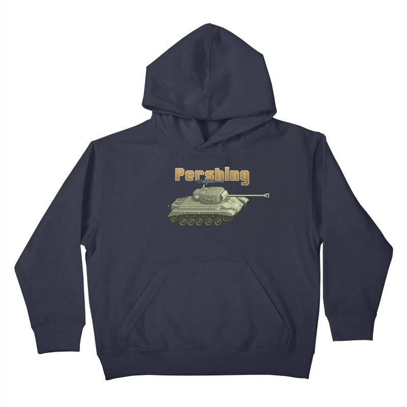 Pershing Kids Pullover Hoody by Pixel Panzers's Merchandise