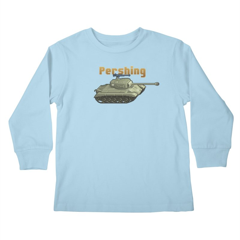 Pershing Kids Longsleeve T-Shirt by Pixel Panzers's Merchandise
