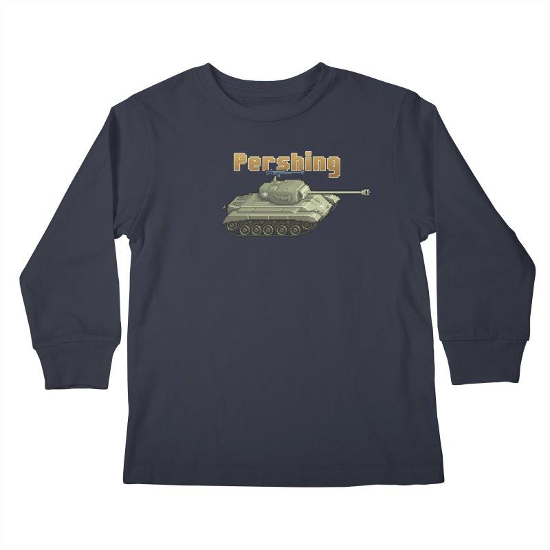 Pershing Kids Longsleeve T-Shirt by Pixel Panzers's Merchandise