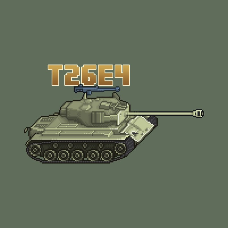 T26E4 by Pixel Panzers's Merchandise