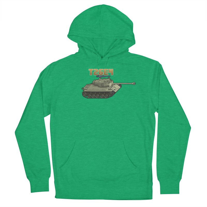 T26E4 Men's French Terry Pullover Hoody by Pixel Panzers's Merchandise