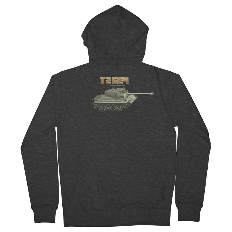 T26E4 Men's French Terry Zip-Up Hoody by Pixel Panzers's Merchandise