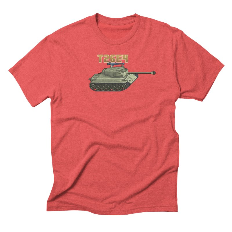 T26E4 Men's Triblend T-Shirt by Pixel Panzers's Merchandise