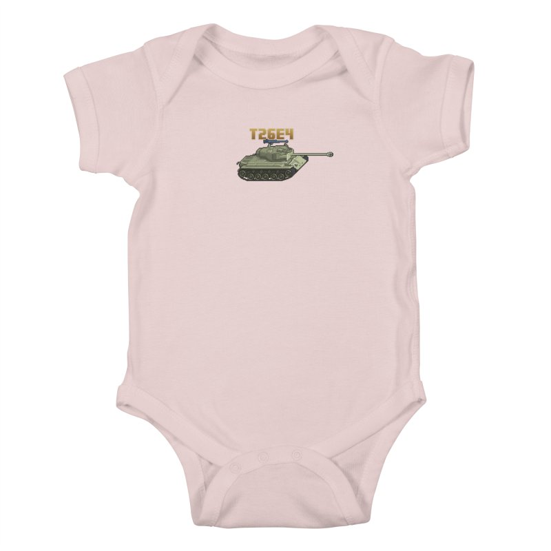 T26E4 Kids Baby Bodysuit by Pixel Panzers's Merchandise