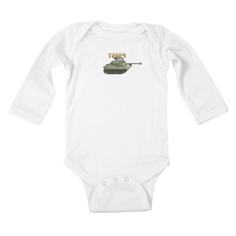 T26E4 Kids Baby Longsleeve Bodysuit by Pixel Panzers's Merchandise