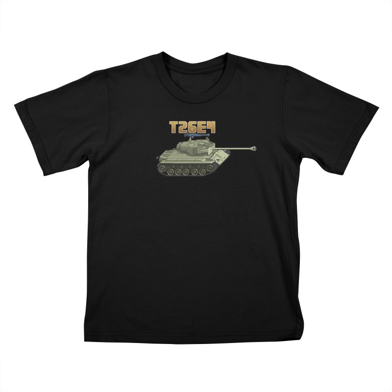 T26E4 Kids T-Shirt by Pixel Panzers's Merchandise
