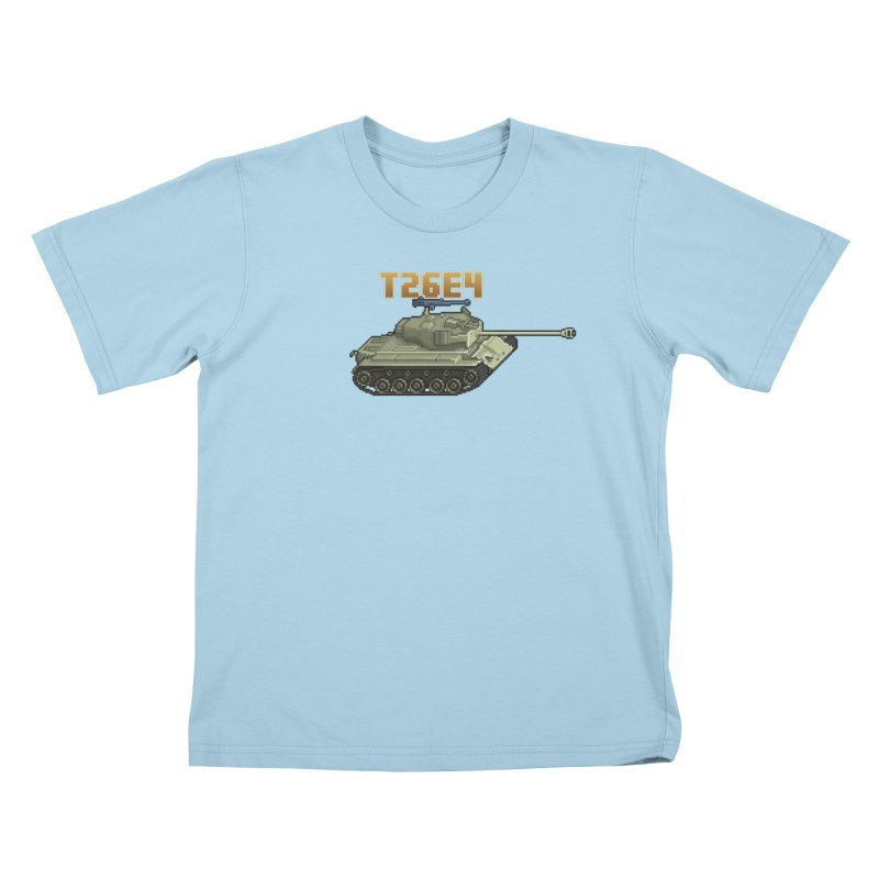 T26E4 Kids T-Shirt by Pixel Panzers's Merchandise