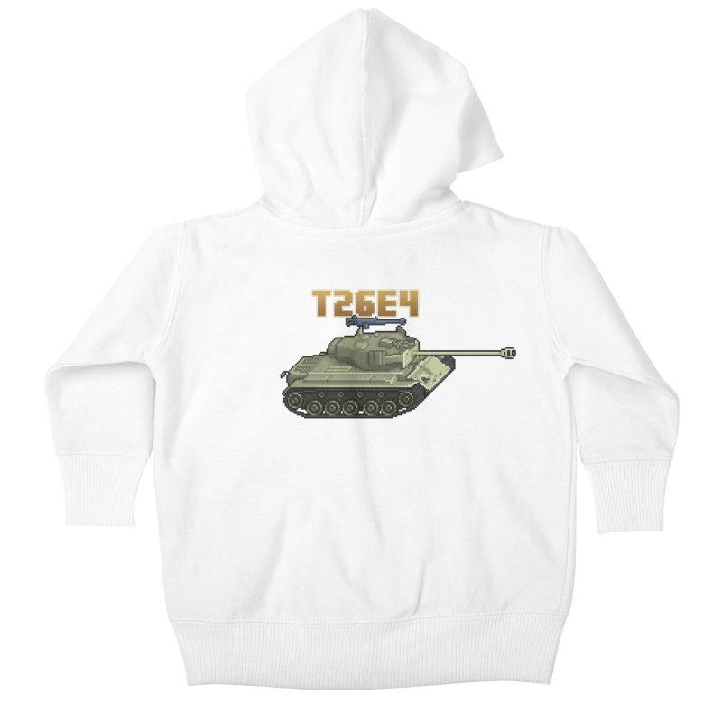 T26E4 Kids Baby Zip-Up Hoody by Pixel Panzers's Merchandise