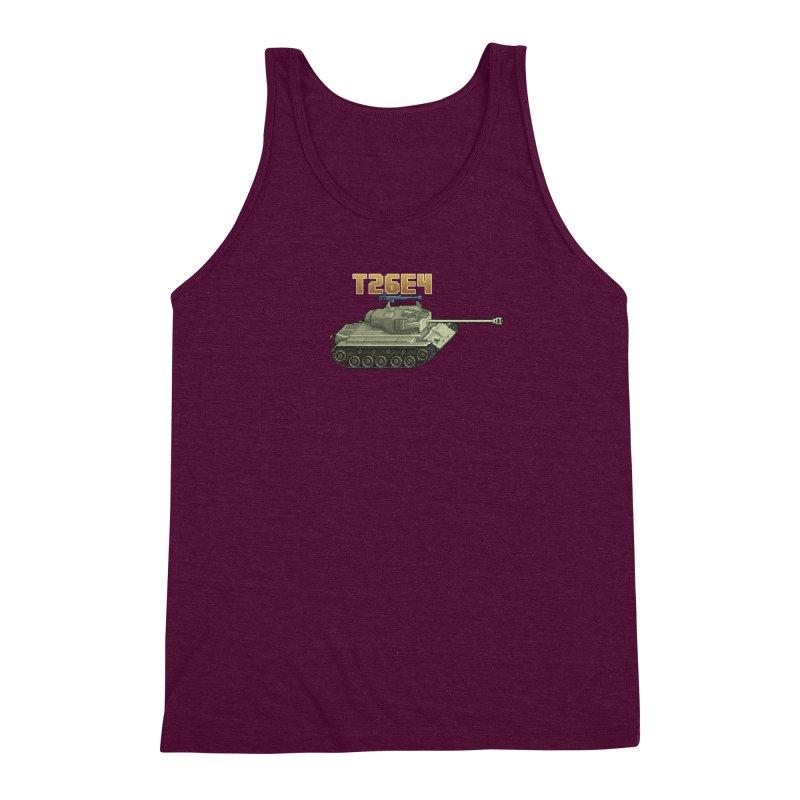 T26E4 Men's Triblend Tank by Pixel Panzers's Merchandise