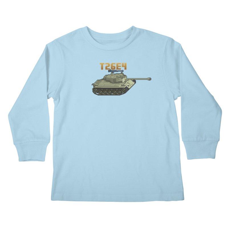 T26E4 Kids Longsleeve T-Shirt by Pixel Panzers's Merchandise